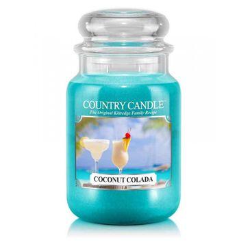 Country Candle – świeca zapachowa z dwoma knotami Coconut Colada (652 g)