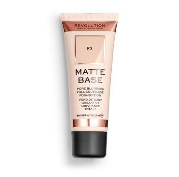 Makeup Revolution Matte Base Foundation – podkład matujący do twarzy F3 (28 ml)