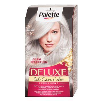 Palette – Deluxe Oil-Care Color farba do włosów trwale koloryzująca z mikroolejkami U71 Mroźne Srebro (1 szt.)