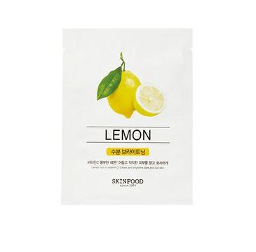 Skinfood – Beauty In A Food Mask Sheet Lemon rozświetlająca maseczka do twarzy w płachcie z ekstraktem z cytryny (18 ml)