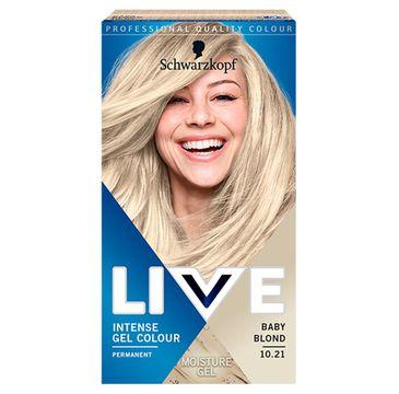 Schwarzkopf – Live Intense Gel Colour koloryzacja do włosów w żelu 10.21 Baby Blonde (1 szt.)