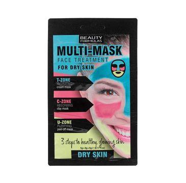 Beauty Formulas – Multi Mask Face Treatment zabieg na twarz do cery suchej (3 x 5 g)