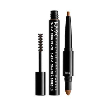 NYX Professional MakeUp 3in1 Brow Pencil wielofunkcyjny produkt do makijażu brwi 04 Carmel