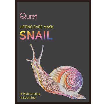 Quret – Lifting Care Mask Snail nawilżająca maska z ekstraktem ze śluzu ślimaka (25 g)