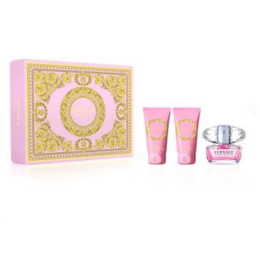 Versace – Zestaw Bright Crystal woda toaletowa spray 50ml + balsam do ciała 50ml + żel pod prysznic 50ml (1 szt.)