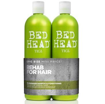 Tigi Rehab For Hair Bed Head Urban Antidotes Re-Energize – zestaw energizujący szampon do włosów normalnych (750 ml) + odżywka energizująca do włosów normalnych (750 ml)