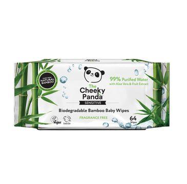 The Cheeky Panda – Bamboo Baby Wipes bambusowe chusteczki nawilżające dla dzieci (64 szt.)