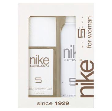 Nike – Zestaw prezentowy 5th Element for woman dezodorant w szkle 75ml+dezodorant spray 200ml (1 szt.)