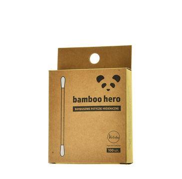 Bamboo Hero – Bambusowe patyczki higieniczne (100 szt.)