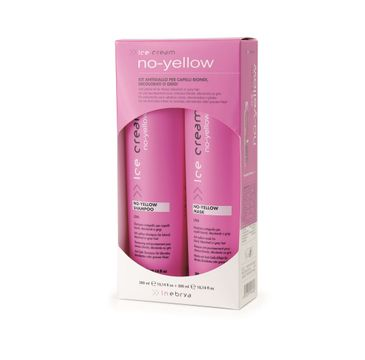 Inebrya Ice Cream No-Yellow – zestaw szampon (300 ml) + maska (300 ml)