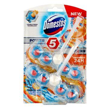 Domestos – Ocean DUO Kostka WC Power 5 Platinum koszyk - Blue Lotus & Orange (2 x 55 g)