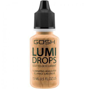 Gosh Lumi Drops Highlighter (rozświetlacz w płynie 014 Gold 15 ml)