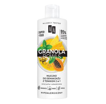 AA – Granola Bowls mleczko do demakijażu z tonikiem 2w1 (400 ml)