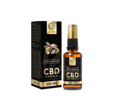 Dr. T&J Sweet Almond Oil naturalny olej ze słodkich migdałów BIO + CBD 500 MG (50 ml)