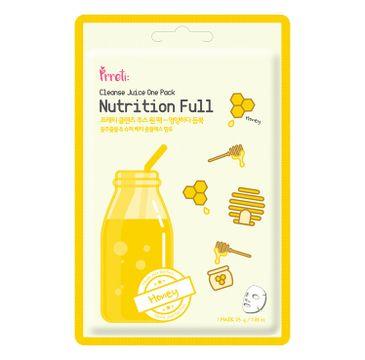 Prreti Cleanse Juice One Pack – odżywcza maska do twarzy w płachcie Miód (25 g)