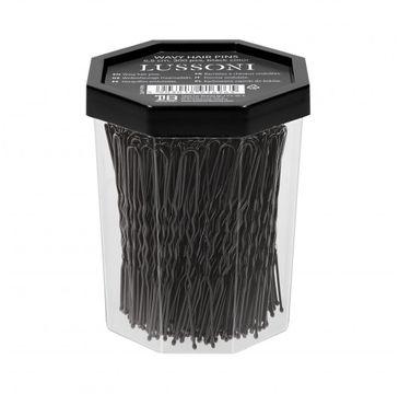 Lussoni – Wsuwki do włosów czarne karbowane 6.5cm (300 szt.)