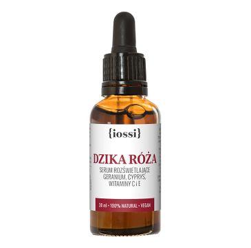iossi Dzika Róża serum rozświetlające z geranium cyprysem witaminami C i E (30 ml)
