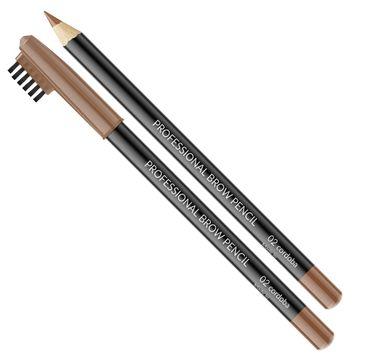 Vipera Professional Brow Pencil kredka do brwi ze szczoteczką 02 Cordoba (1 g)