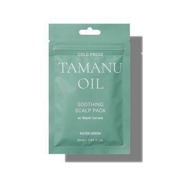 Rated Green – Kuracja łagodząca skórę głowy z olejem tamanu i czarną porzeczką (50 ml)