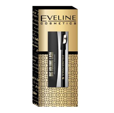 Eveline Cosmetics – zestaw prezentowy Big Volume Lash Mascara Black (10 ml) + Eyeliner Pencil (Black 0.28 g)