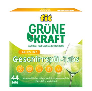 Fit – Grune Kraft Alles in 1 tabletki do zmywarki (44 szt.)