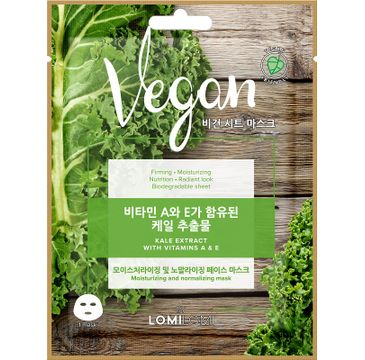 Lomi Lomi Vegan Sheet Mask – wegańska maseczka w płachcie Jarmuż (20 ml)