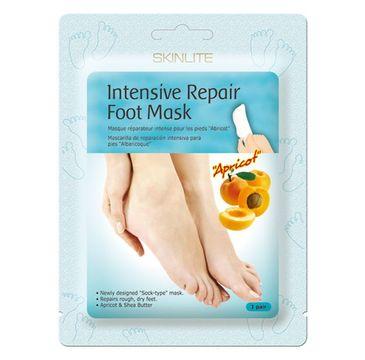 SKINLITE Intensive Repair Food Mask – skarpetki regenerujące Morela (1 para)