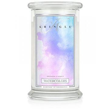 Kringle Candle – świeca zapachowa z dwoma knotami Watercolors (623 g)