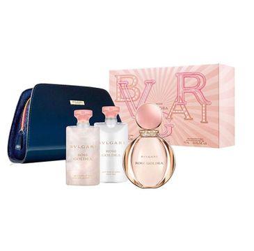 Bvlgari Rose Goldea – zestaw woda perfumowana spray 90 ml + balsam do ciała 75ml + żel pod prysznic 75 ml + kosmetyczka