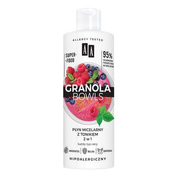 AA – Granola Bowls płyn micelarny z tonikiem 2w1 (400 ml)