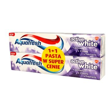 Aquafresh – Pasta do zębów Active White 1+1 (125 ml)