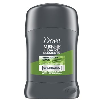 Dove –  Men+Care Elements Minerals+Sage antyperspirant w sztyfcie (50 ml)