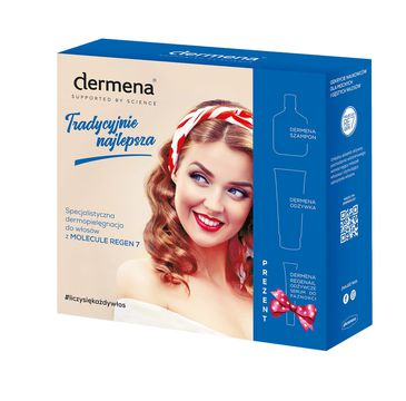 Dermena – Hair Care Zestaw prezentowy szampon 200ml+odżywka 200ml+serum 7ml (1 szt.)
