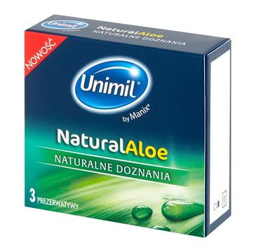 Unimil – Natural Aloe lateksowe prezerwatywy (3 szt.)