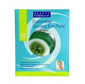 Beauty Formulas – Clear Skin Cucumber Cooling Eye Pads ogórkowe chłodzące płatki na oczy (12 szt.)