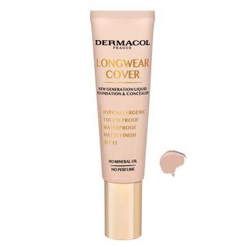 Dermacol–  Longwear Cover Make-Up podkład i korektor do twarzy 03 Beige (30 ml_