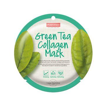 Purederm – Maseczka kolagenowa w płachcie Zielona Herbata (18 g)