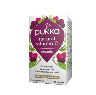 Pukka – Natural Vitamin C suplement diety Owoc Aceroli (60 kaps.)