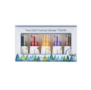 Huangjisoo Pure Daily Foaming Cleanser Trial Kit – hipoalergiczne pianki do mycia twarzy minizestaw (5 x 30 ml)