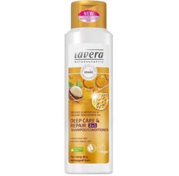 Lavera – Szampon odżywczo regenerujący 2w1 do włosów zniszczonych (250 ml)