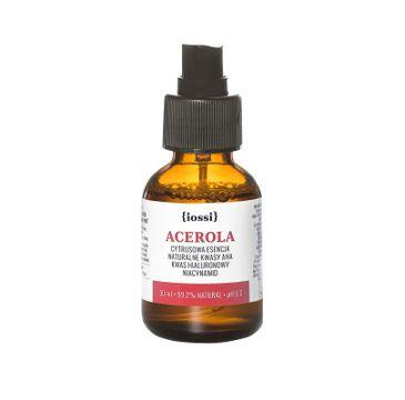 iossi Acerola cytrusowa esencja z naturalnymi kwasami AHA kwasem hialuronowym i niacynamidem (50 ml)