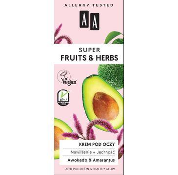 AA – Fruit&Herbs krem pod oczy nawilżenie+jędrność (15 ml)