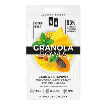 AA – Zabieg odżywczo-nawilżający Granola Bowls znutri peeling+maska cera sucha i odwodniona (2 x 4 ml)
