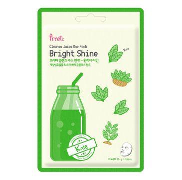 Prreti Cleanse Juice One Pack – rozświetlająca maska do twarzy w płachcie Jarmuż (25 g)