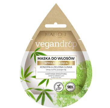 Marion Vegan Drop 鈥� maska do w艂os贸w wyg艂adzaj膮ca Konopia & Zielona Glinka (20 ml)