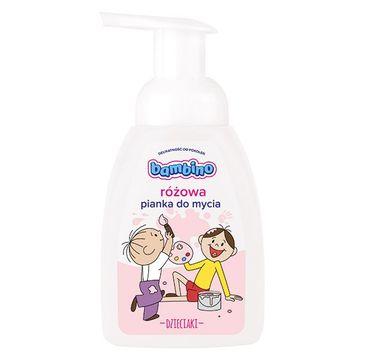 Bambino – Dzieciaki Pianka do mycia dla dzieci Różowa (250 ml)