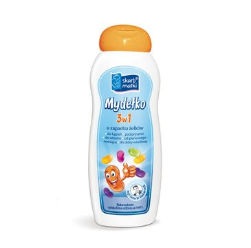 Skarb Matki mydełko 3w1 o zapachu żelków dla niemowląt i dzieci (250 ml)