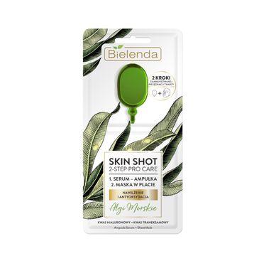 Bielenda – Skin Shot Maska w płacie 2-kroki Algi Morskie nawilżenie i antyoksydacja (1 szt.)