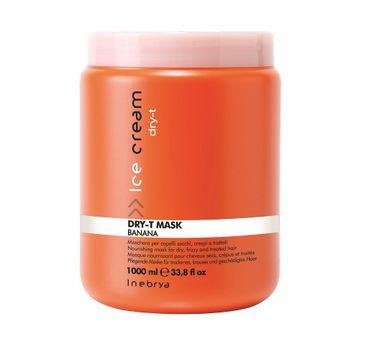 Inebrya Ice Cream Dry-T Mask – maska odżywczo-rekonstruująca do włosów suchych (1000 ml)