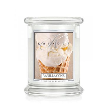 Kringle Candle – świeca zapachowa z dwoma knotami Vanilla Cone (454 g)